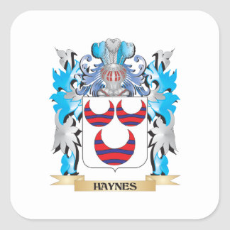 Haynes Coat of Arms - Family Crest Square Sticker