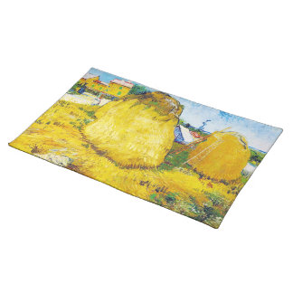 Haystacks in Provence by Vincent Van Gogh Placemat