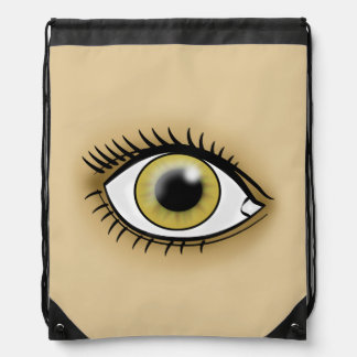 Hazel Eye icon Drawstring Bag