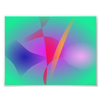 Hazy Green Colorful Abstract Art Photo Print