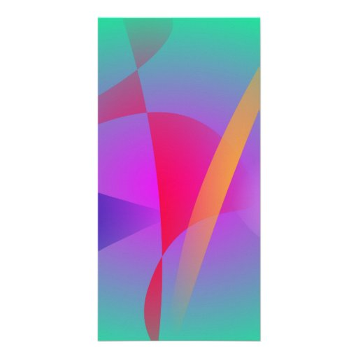 Hazy Green Colorful Abstract Art Picture Card