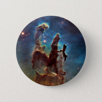 HDR Eagle Nebula Pillars of Creation 6 Cm Round Badge