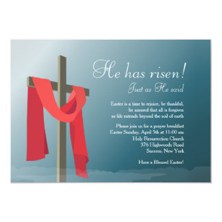 He Has Risen Easter Invitation