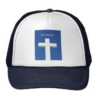 He is Risen!, White cross on Aruba Cap