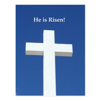 He is Risen!, White cross on Aruba Postcard