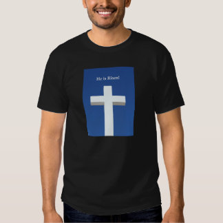 He is Risen!, White cross on Aruba Shirt