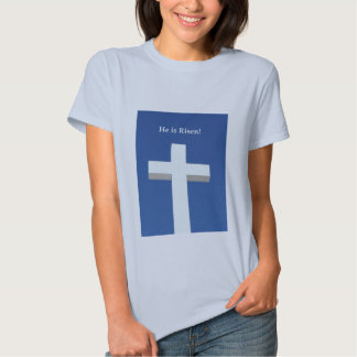 He is Risen!, White cross on Aruba T-shirts