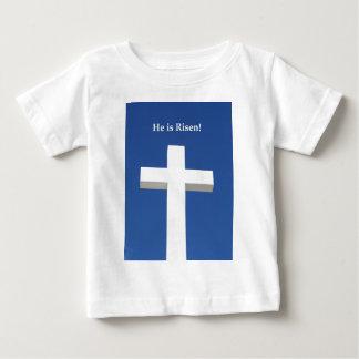 He is Risen!, White cross on Aruba T Shirts