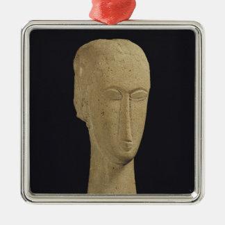 Head, c.1911-12 Silver-Colored square decoration