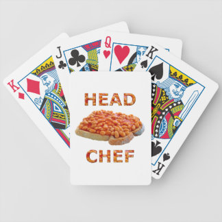 Head Chef Beans on Toast Bicycle Playing Cards
