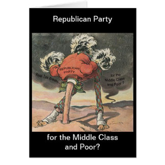 Head in the Sand Republican Party Card