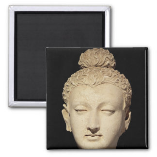 Head of a Buddha, Greco-Buddhist style Square Magnet