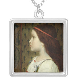 Head of a Child, 1866 Silver Plated Necklace