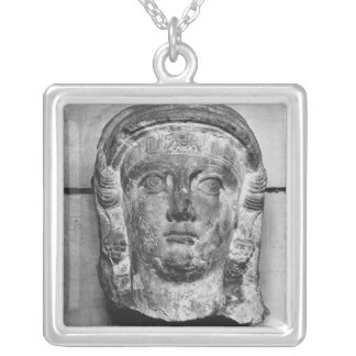 Head of a lady from Palmyra, mid-2nd century AD Silver Plated Necklace