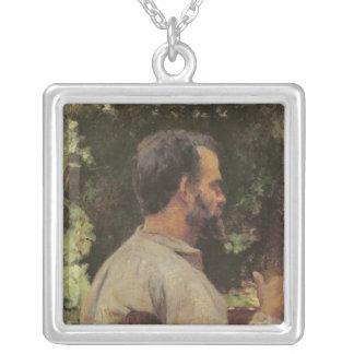 Head of a Man, Monsieur Etienne Devismes, 1882 Silver Plated Necklace