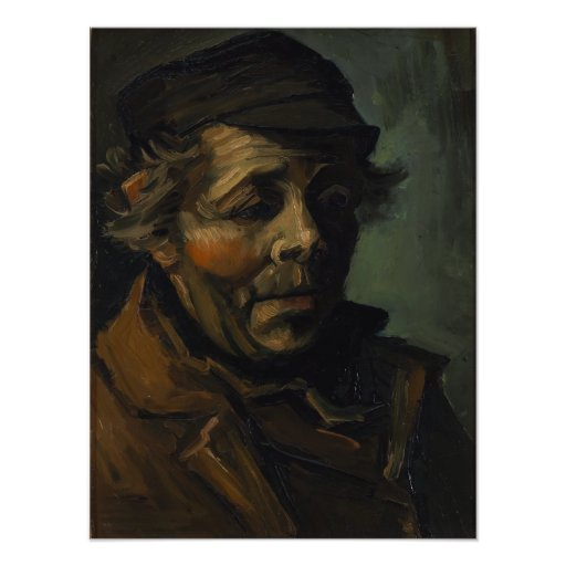 Head of a Peasant by Vincent Van Gogh Photographic Print