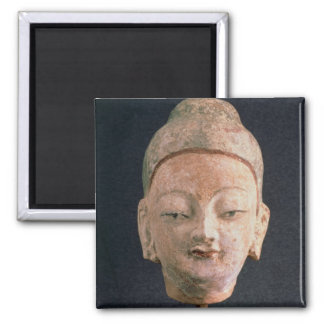 Head of a statue of Buddha, from Bezeklik Square Magnet