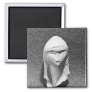 Head of a Woman known as Venus of Brassempouy Square Magnet
