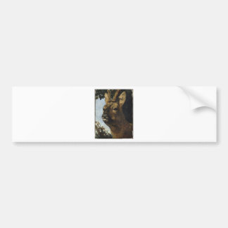 Head of a Young Doe by Gustave Courbet Bumper Sticker