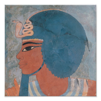 Head of Amenophis III from the tomb of Onsou Poster