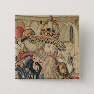 Head of Charlemagne , Tournai workshop 15 Cm Square Badge