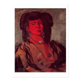 Head of Kate One Horn (oil on canvas) Postcard