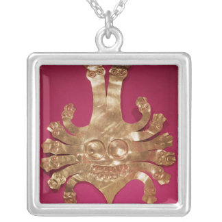 Head of Medusa, from Peru Silver Plated Necklace