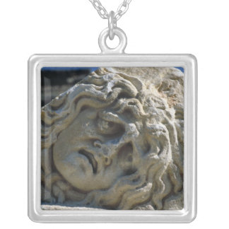 Head of Medusa Silver Plated Necklace