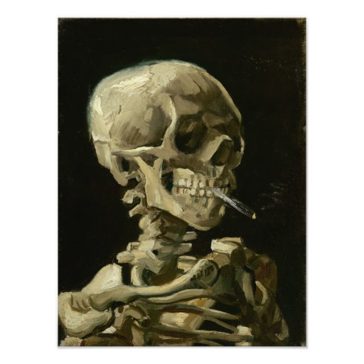 Head of Skeleton with Cigarette by Van Gogh Photo