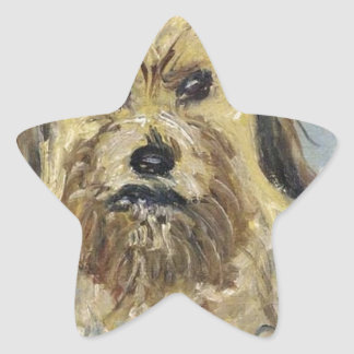 Head of the Dog by Claude Monet Star Sticker