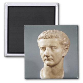 Head of the Emperor Tiberius Square Magnet