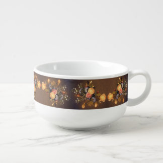 Heade Roses Flowers Floral Trim Bowl Soup Mug