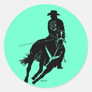 Header 100 classic round sticker