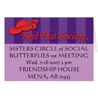 header_logo, SISTERS CIRCLE of SOCIAL BUTTERFLI... Note Card