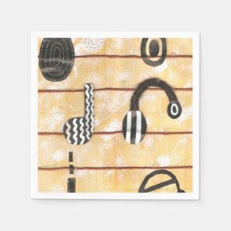 Headphone Musical Napkins Paper Napkin