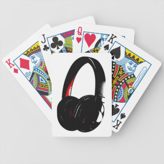 Headphone Pop Art Head Phone Bicycle Playing Cards