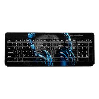 Headphone print wireless keyboard