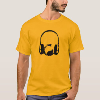 Headphones around a globe T-Shirt