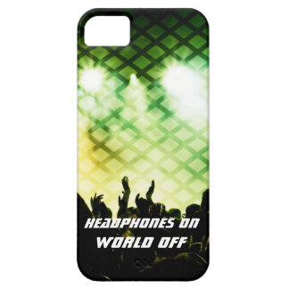 Headphones ON World OFF iPhone 5/5s Case
