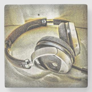 Headphones Stone Coaster
