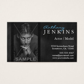 Headshot Black Velvet Backdrop Actor Business Card