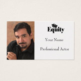 Headshot Business Card for AEA Actor
