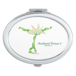 (Headstand Posture V) Oval Compact Mirror