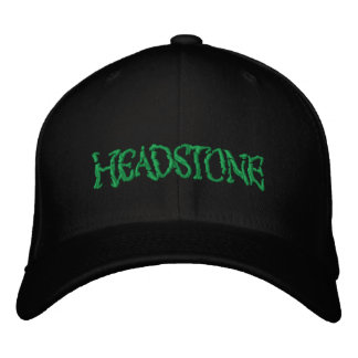 HEADSTONE Green Logo Embroidered Baseball Caps
