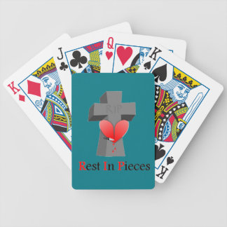 Headstone Heart Rest in Pieces Bicycle Playing Cards