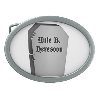 Headstone Humor Belt Buckle