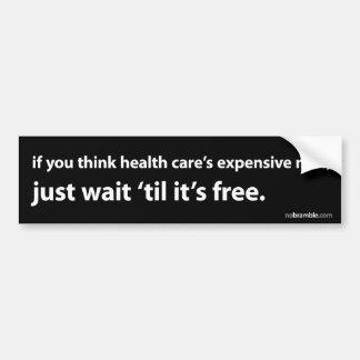 Health Care's Cost? Car Bumper Sticker