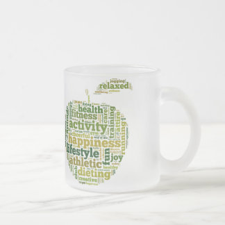 Health Fitness Activity Happyness Frosted Glass Mug