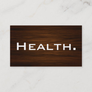 Nutrition doctor business cards zazzle nz health professional business card modern wood business card reheart Image collections