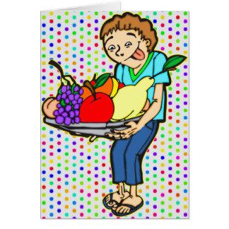 Healthy Balanced Diet Note Card